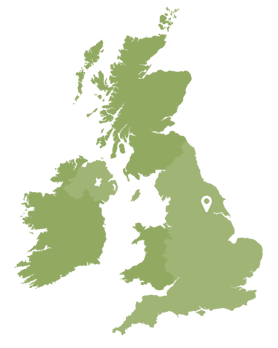 Location marker on map of UK